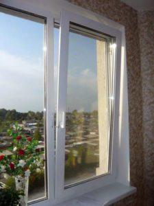 окно пластиковое двустворчатое