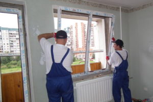 установка нового пластикового окна